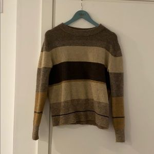 James Perse Stripe Mohair Sweater